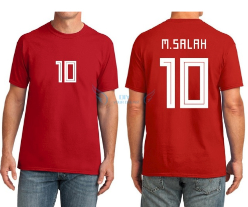 b0feabce9 2018 Egypt Jersey soccer M. SALAH Home Red 17 18 KAHRABA national team men  short sleeve footbal SHIRT maillot de foo