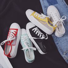 Fashion candy color hollow small white shoes breathable mesh face ladies casual wear deodorant flat