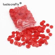 Lucia crafts 100 компл./лот 1,2 см Мульти параметр Пластик кнопки для одежды сумка-папка темная Пряжка DIY аксессуары для ногтей E0523
