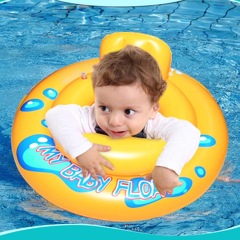 Baby Water Swimming Ring Kids Thickened Swimming Toy Inflatable Double Balloon Float Seat Boat Toddler Swimming Pool Accessories