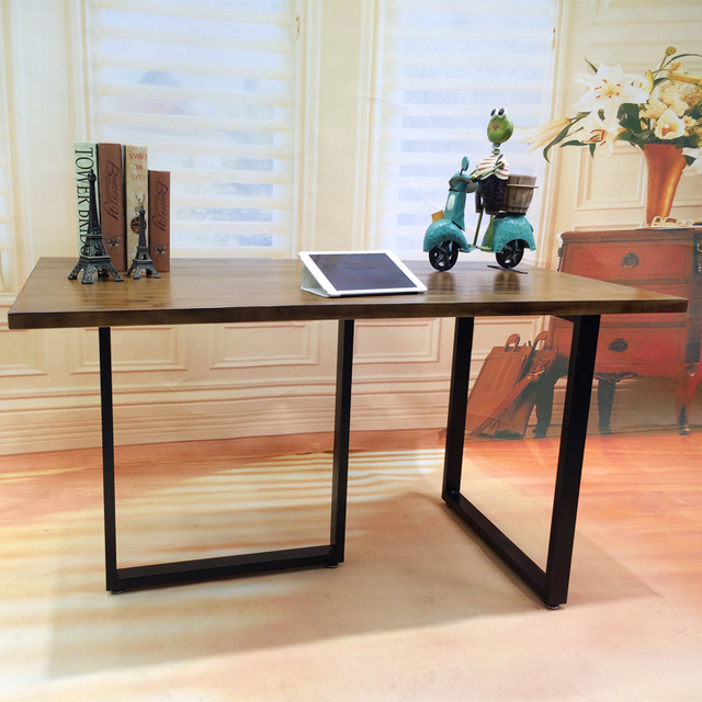 American Retro To Do The Old Wrought Iron Wood Desk Conference Table - Corner conference table