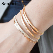 Senfai 2018 Handmade Custom Name Bracelets for women men kids Luxury Gold Silver Any Font Name Cute Cuff Bracelet Bangle Jewelry