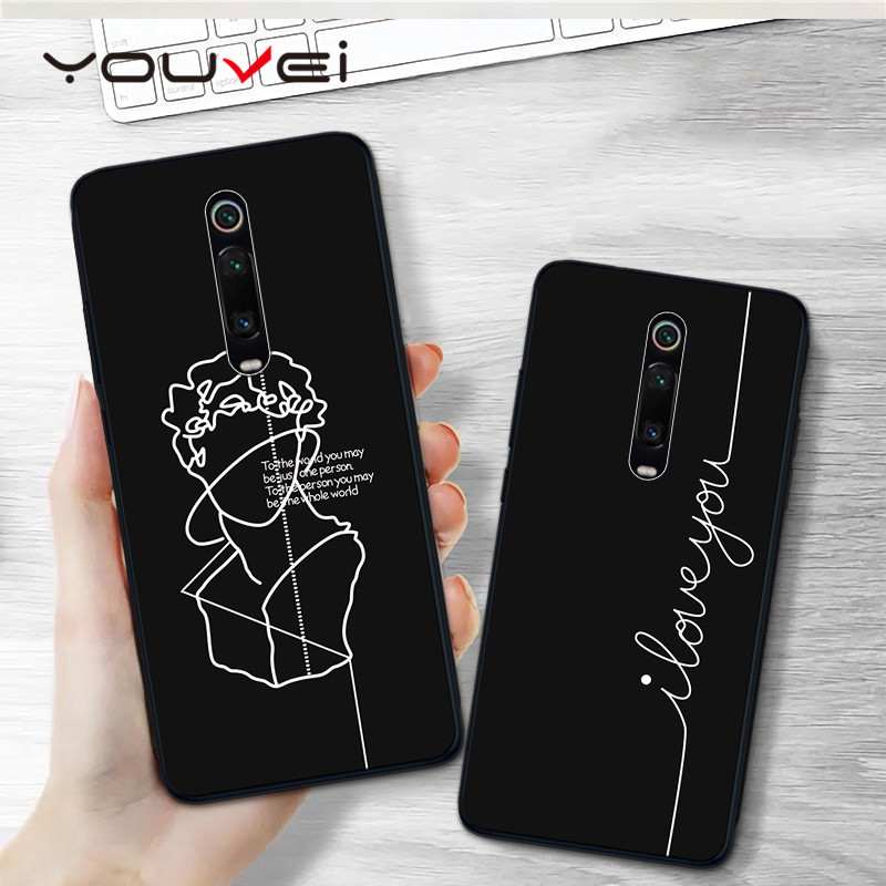 YOUVEI Case For Coque Redmi K20 Pro Case Black Soft TPU Back Cover For Xiaomi Mi 9T Case Cover For Xiaomi Mi9T Pro Phone Case in Fitted Cases from Cellphones Telecommunications