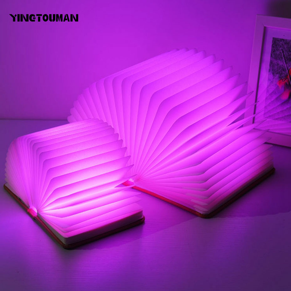 YINGTOUMAN LED Night Light Folding Book Light USB Port Rechargeable Paper Cover Home Table Desk Ceiling Decor Lamp yingtouman led night light folding book light usb port rechargeable paper cover home table desk ceiling decor lamp