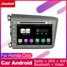 цена на ZaiXi android car dvd gps multimedia player For Honda Civic 2012~2015 car dvd navigation radio video audio player Navi Map