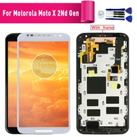 For Motorola Moto Moto X+1 X2 Xt1092 Xt1095 Xt1097 LCD Display Touch Screen with Digitizer with Frame Moto X 2nd Generation+Tool