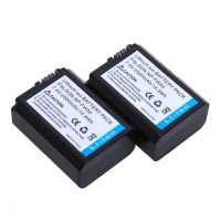 AOPULY 2Pcs 2000mAh NP FW50 NP FW50 Camera Battery For Sony A5100 NEX5T NEX5R X 7