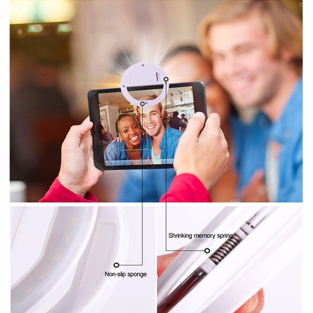 Practical and Portable Selfie Flash LED Phone Camera Ring Light For Apple Iphone Samsung HTC 4