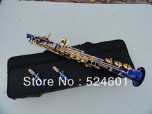 Wholesale sales Professional soprano saxophone B surface gold-bonded blue