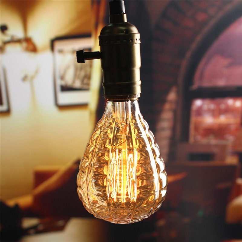 Vintage Edison Bulb LED Light E27 40W Energy Saving Antique Retro Filament Lamp Bulb Warm White Home Decor Lighting AC220V 5pcs e27 led bulb 2w 4w 6w vintage cold white warm white edison lamp g45 led filament decorative bulb ac 220v 240v