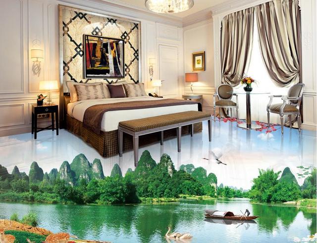 Personalizzata di lusso 3d pavimentazione paesaggio 3d stereoscopico