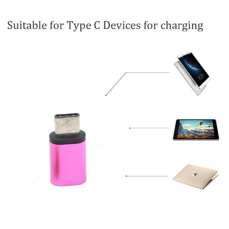 Baru 2 PCS USB 3.1 Tipe C Pria Micro USB OTG Wanita Adapter Converter USB-C Konektor