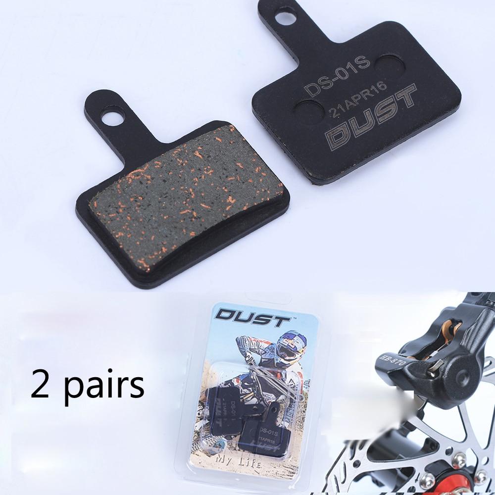 2 Pairs Deore Disc Brake Pads Semi Metal Resin For Shimano M485 M486