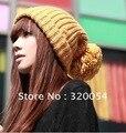 Coreia do sul novo longa Invincible linda outono e inverno quente chapéus, as mulheres knit cap, Multicolor, frete grátis