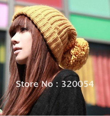South Korea new long Invincible lovely autumn and winter warm hats,women knit cap,Multicolor,free shipping