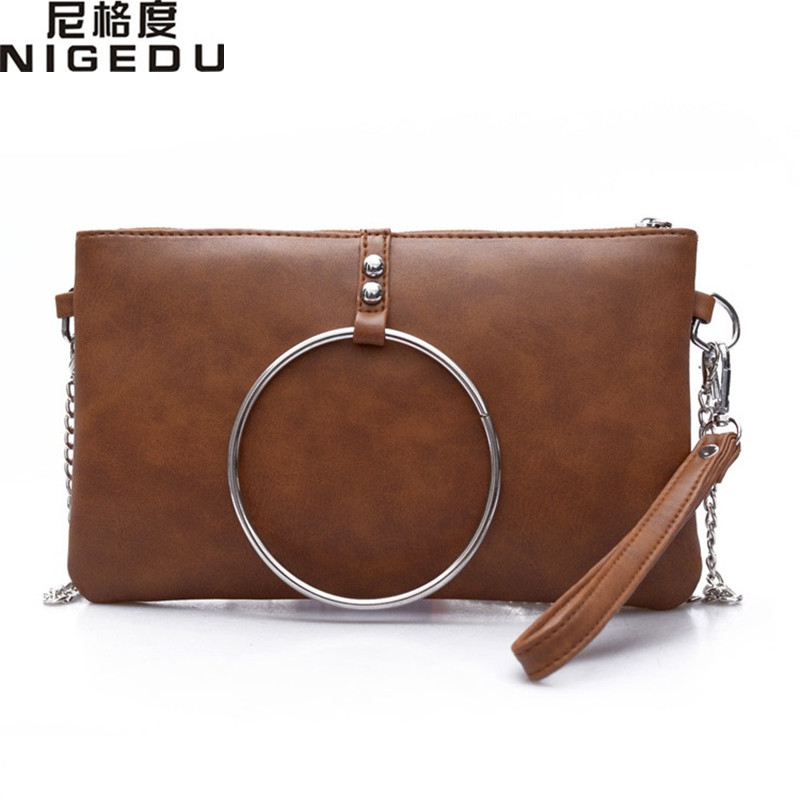Fashion Ring envelope bag clutch purses Women Leather Handbags Designer Evening Bag Chain Crossbody Bags Small Shoulder bag new sequin clutch bag finger ring evening bag hard box clutch chain sshoulder bag crossbody bags for women purses and handbags