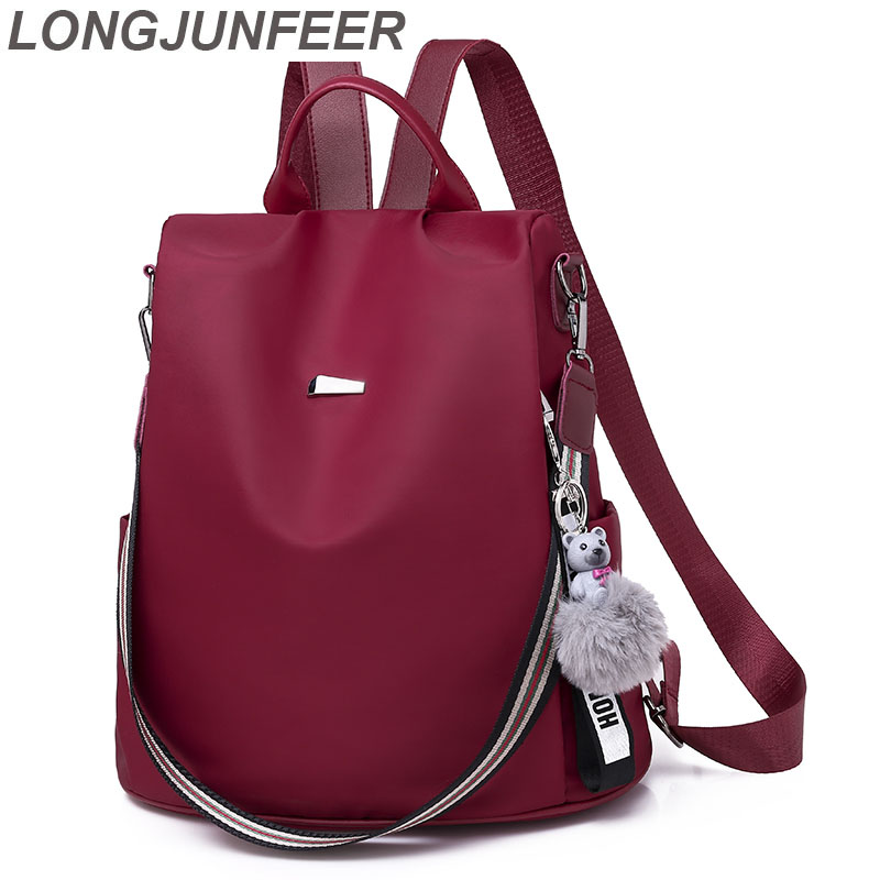 LONGJUNFEER New Women's Anti-Theft Backpack High Quality Oxford Waterproof Multi-Purpose Travel Bag Popular Girl Back Pack ZL002