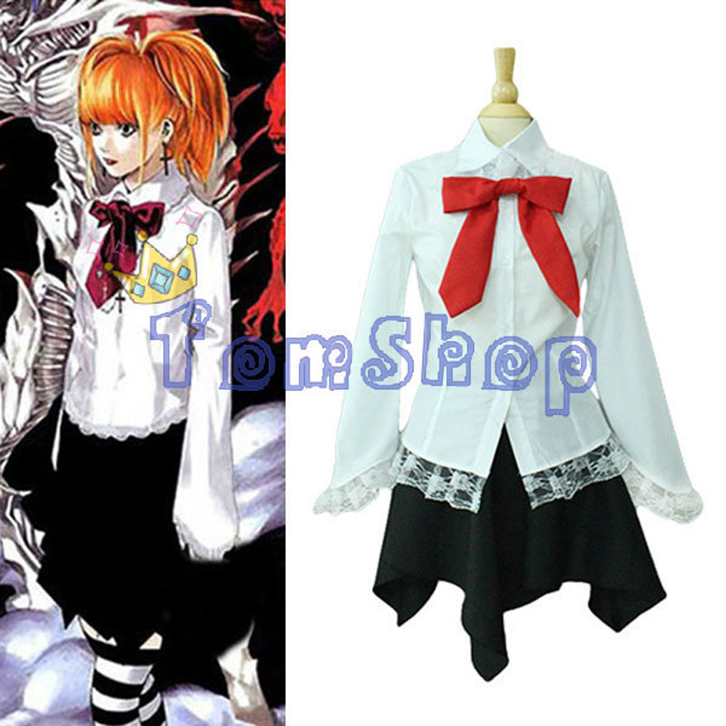 Anime Death Note Amane Misa Cosplay Costume Women's Full Set High Quality Halloween Party Costumes Custom-made Free Shipping