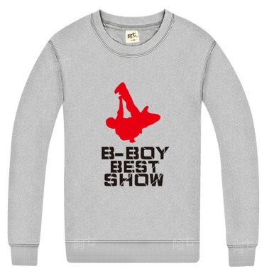 B Boy Breakdancing Round Neck Hoodies Breakin Bboy Best Show