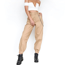 YJSFG HOUSE Brand Women Cargo Pants Trousers Casual Hip Hop Military Army Combat Sportswear Chain Female Hot