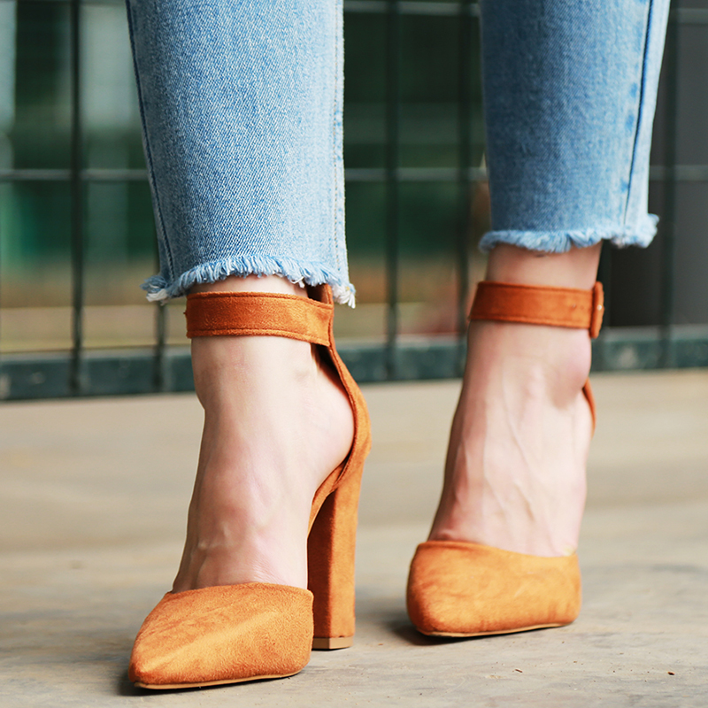 2018 Sexy Classic High Heels Women's Sandals Summer Shoes Ladies Strappy Pumps Platform Heels Woman Ankle Strap Shoes 32