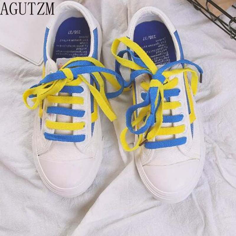 AGUTZM Women canvas Shoes 2018 Spring New Female Casual Shoes Fashion Sneakers flat womens shoes V104