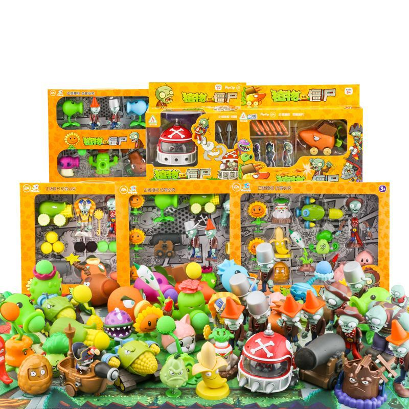 28 Styles Plants Vs Zombies Action Figure For Children,ABS Material Children's Toys ,Good Gift For Children
