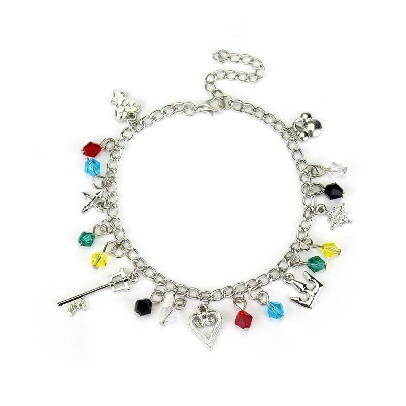 Dongsheng Kingdom Hearts Charm Bracelet Keyblade Crown