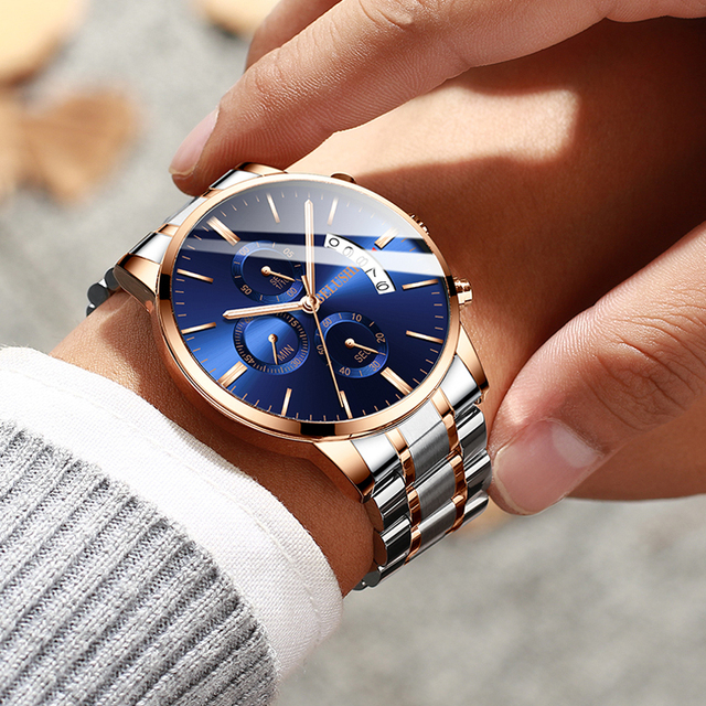 Relojes 2019 Watch Men Fashion Sport Quartz Clock Mens Watches Chronograph high-end Business Waterproof Watch Relogio Masculino