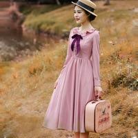 2019 Spring Autumn Women dress Elegant Sweet Long sleeve Swing hem Tunic Ladies' Dresses