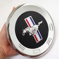3D Horse Pattern Car Tail Emblem ABS Badge Sticker For Ford Mustang 2010