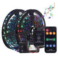 Music control Dream color WS2811 LED strip set 5M DC12V 5050 RGB LED strip light with music controller IP20 IP65