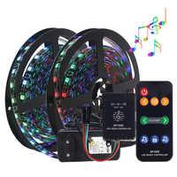 Music control Dream color WS2811 LED strip set 5M DC12V 5050 RGB LED strip light with music controller IP20 IP65