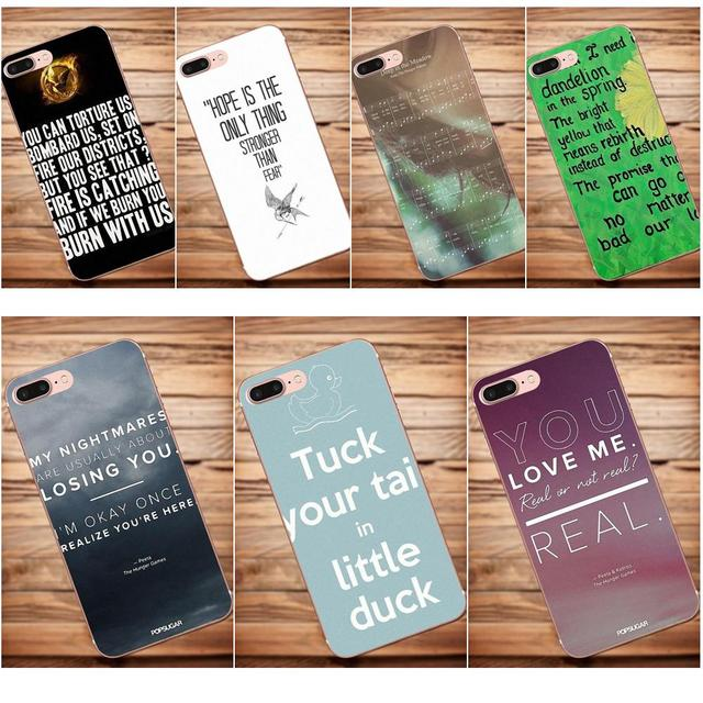 US $0 99  Soft Cool Best Cover Case Hunger Games Quotes For Huawei G8 Honor  5C 5X 6 6X 7 8 9 Y5II Mate 9 P7 P8 P9 P10 P20 Lite Plus 2017-in