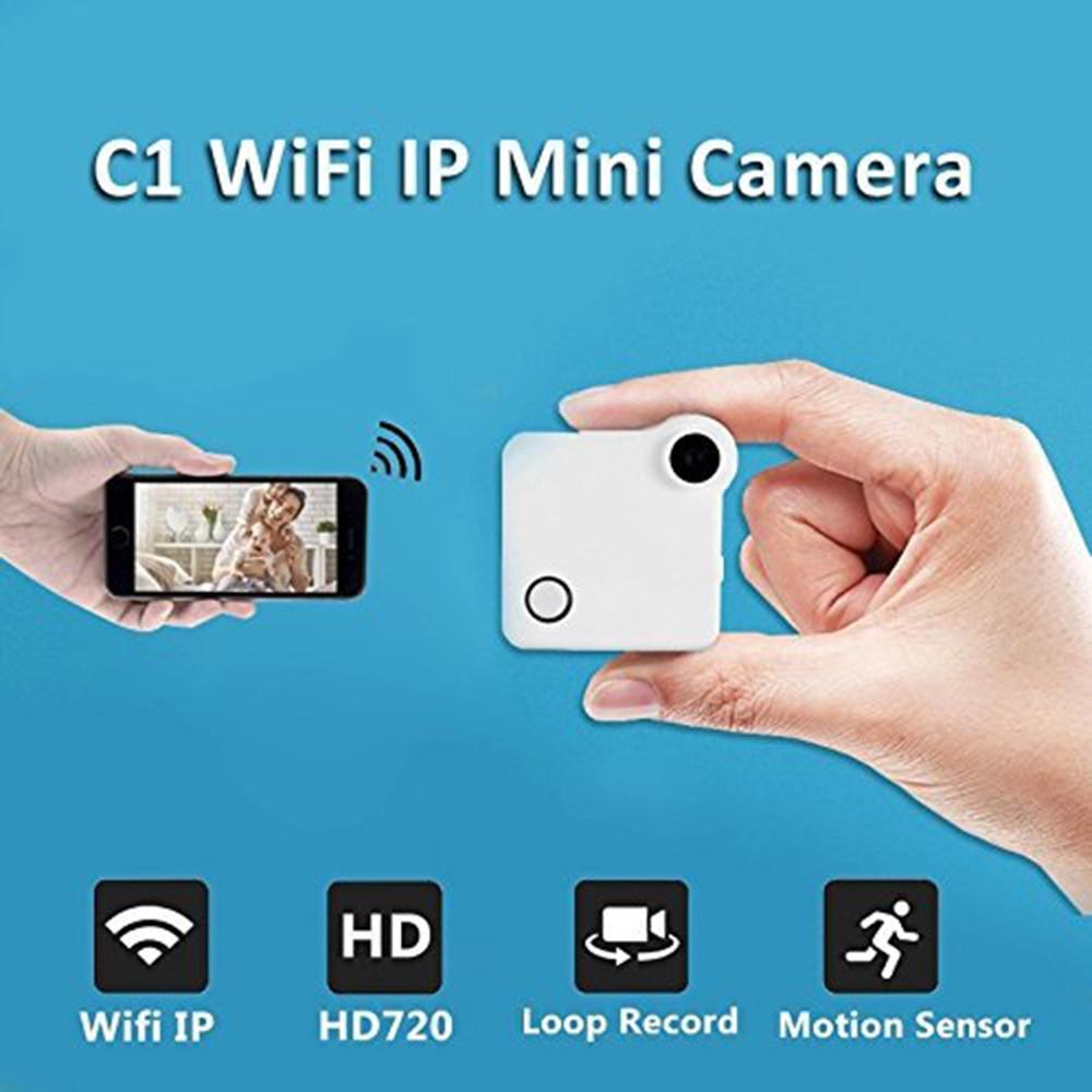 EDAL C1 WiFi 720P Mini Camera HD IP Cam H.264 Wireless Wearable Encoding Cameras Motion Sensor With Battery Bike Mini DV DVR