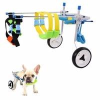 Pet Dog Wheelchair Pet Aluminum Walking Cart Scooter for Handicapped Pups Dogs Car