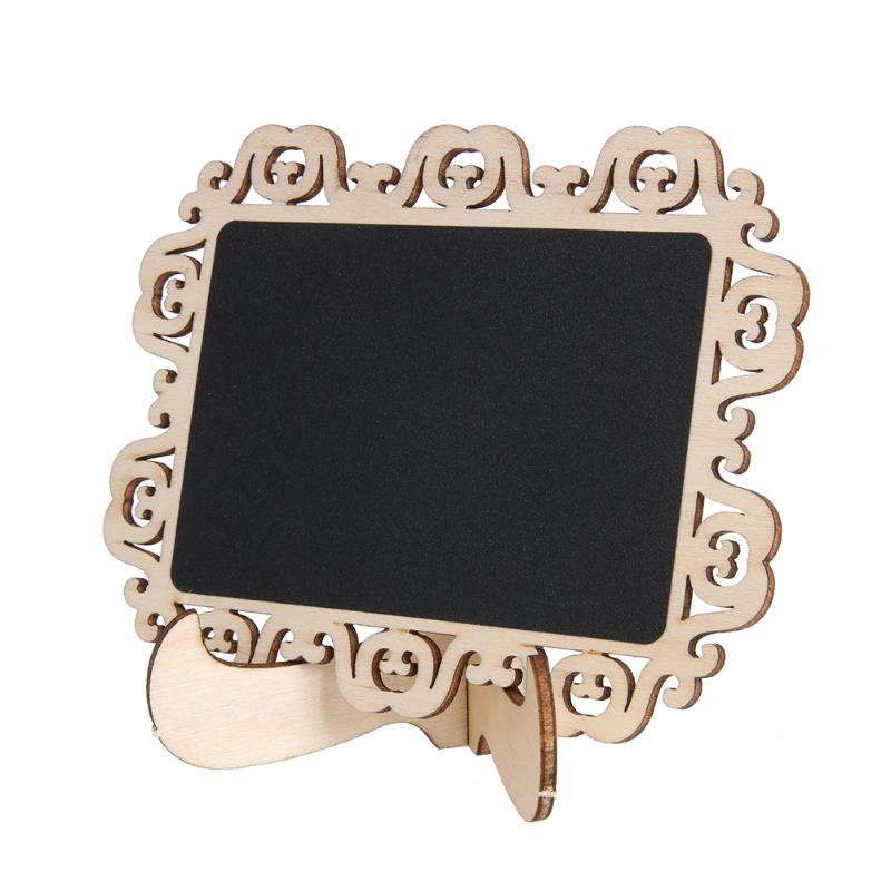 10pcs/set Mini Blackboard Chalkboard Wooden Message Board Number Signs Price Stand for Party Wedding Decoration