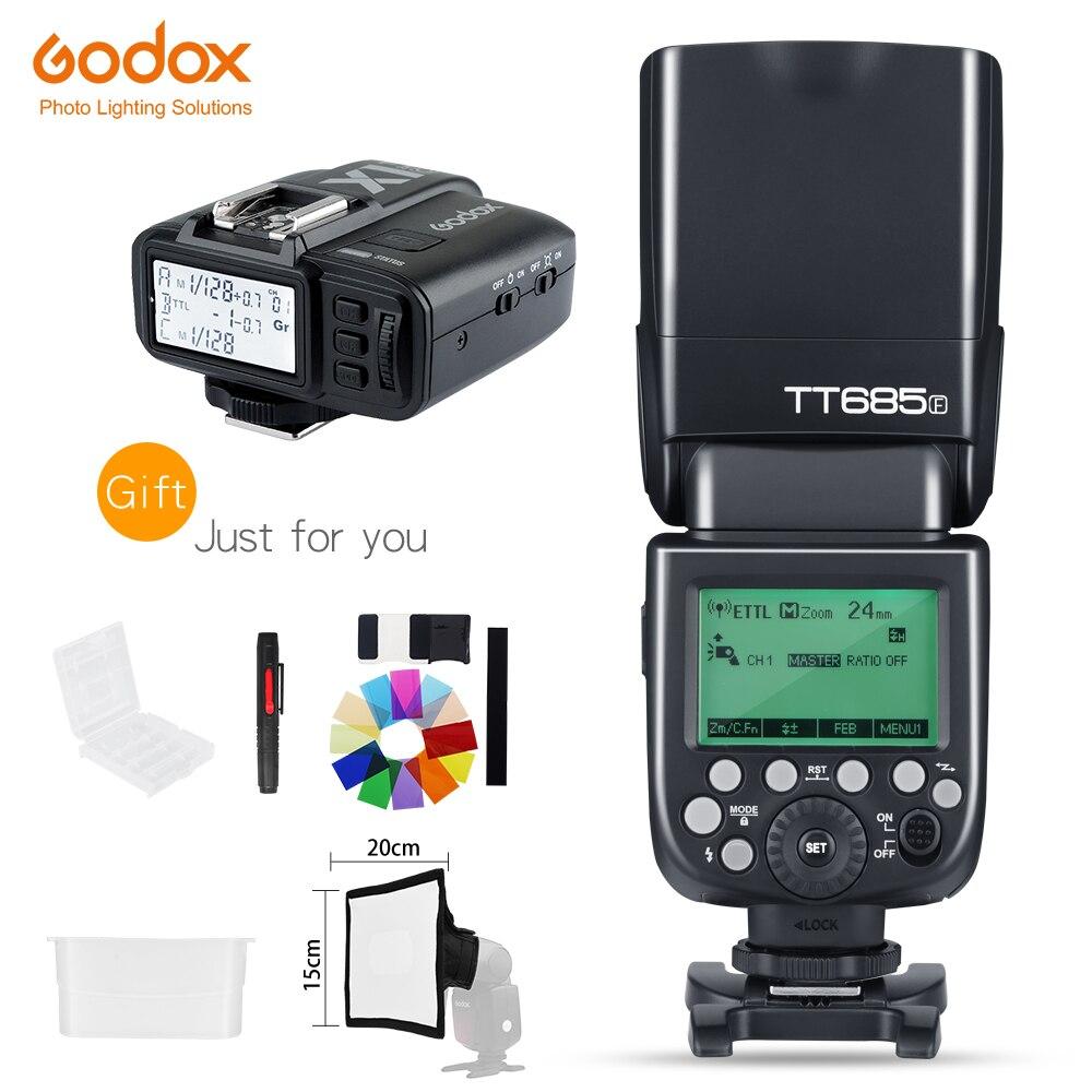 In Stock Godox TT685F X1T F Trigger 2 4G HSS 1 8000s TTL II GN60 Camera