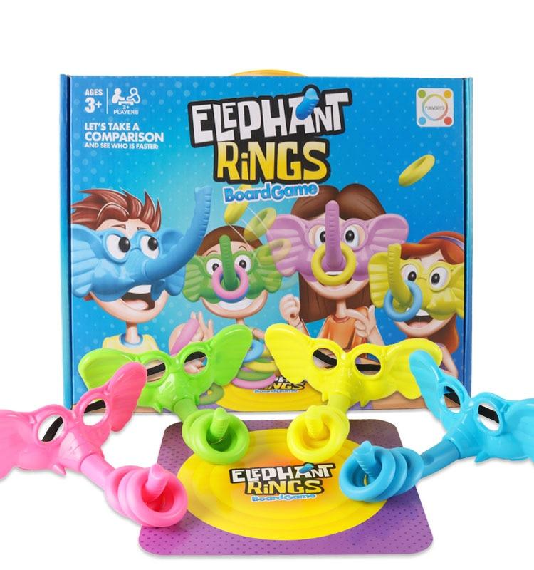 פאזל לוח משחק פיל טבעות פיל האף מסכת לזרוק טבעת מקורה ספורט צעצועי מסיבת משחק לילדים ילדים ספורט משחק