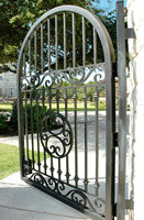 Handmade top villa wrought iron gate one stop shipping to USA hench lg12