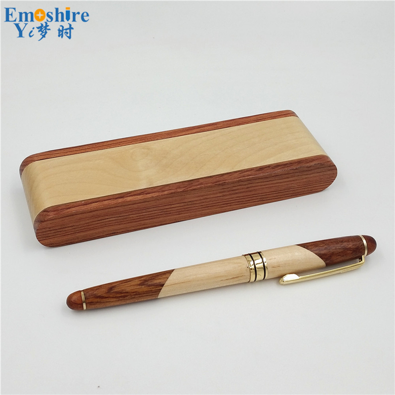 Emoshire Factory direct sales mahogany pieces of wood signature pen suits wooden pen box creative gift customization (17)