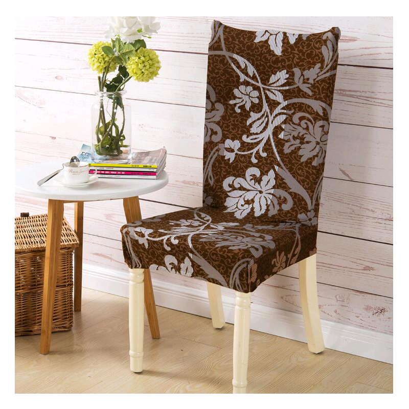 10 Printed Color Spandex Stretch Dining <font><b>Chair</b></font> <font><b>Cover</b></font> Restaurant For Weddings Banquet Folding Hotel <font><b>Chair</b></font> Covering