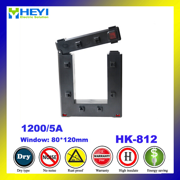 clamp on open type split core current transformer HK812 1200/5A CT ...