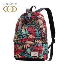 9547d45aa7abf Coofit mode femmes toile sacs à dos feuilles colorées imprimé sac à dos  filles cartable ordinateur
