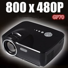 EMP GP-70 mini LED projector GP70 Portable 1200 Lumens Full HD 1080P LCD Projector 800×480 HDMI/USB/AV for Home Theater Cinema