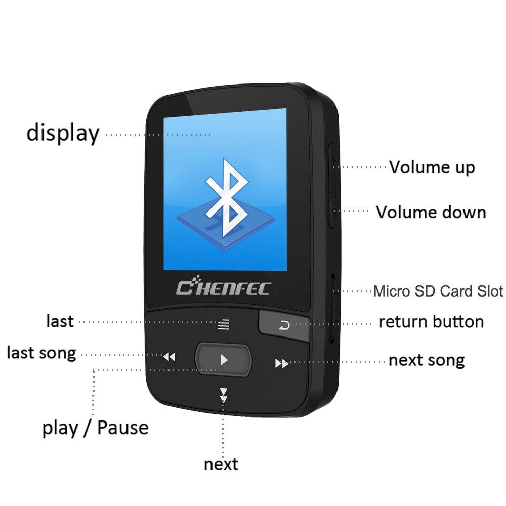 Mini D'origine RUIZU X50 Bluetooth Lecteur MP3 8 GB Sport Clip de Musique MP3 Player Support TF Carte SD avec des écouteurs brassard