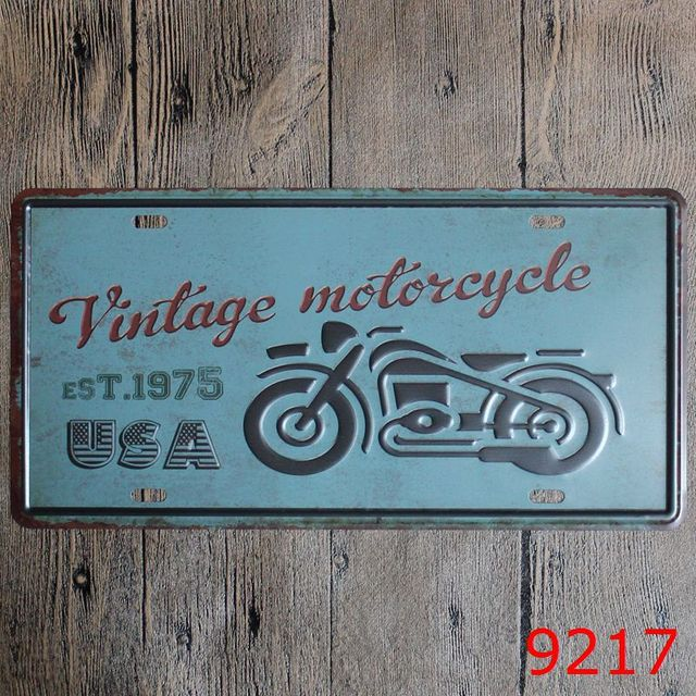 30X15CM USA Motorbike Vintage Home Decor Tin Sign for Auto Wall ...