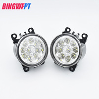 1set Car Styling Round Front Bumper LED Fog Lights DRL Daytime Running Driving For Subaru Outback