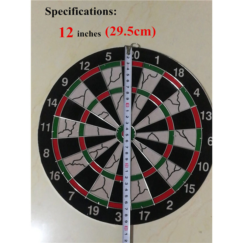 12 Inches Dartboard Thickening Flocking Double-sided Darts Target Darts Professional Darts Accessories Indoor Sports