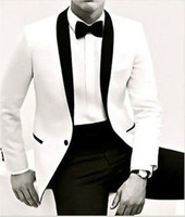 Tailor Made Mens Wedding Suits White Jacket Bridal Groom Suits Business Tuxedos Blazer